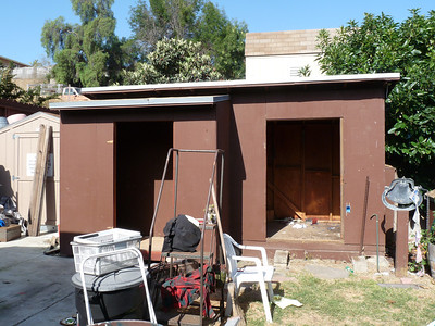 Shed to Patio Transformation, 2012