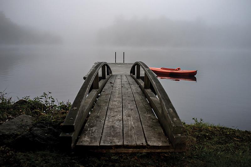 Red Kayak Waiting