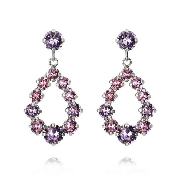 Mini Delia Earrings : Violet + Provence Lavendel rhodium.jpg