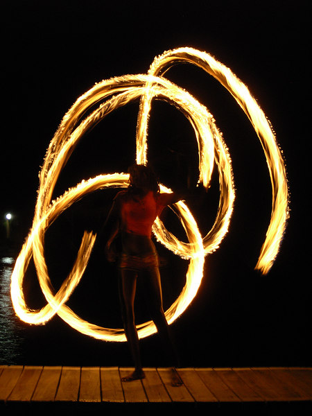 Coco View August 2006 - Kids & Fire Dancers