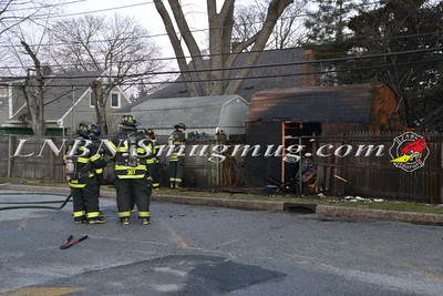 Levittown F.D. Shed Fire 154 Ranch Lane 1-8-12