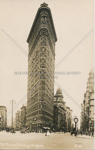 """The """"Flatiron"""" Building, N.Y."""