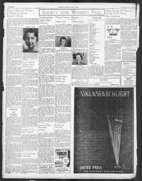 Daily Trojan, Vol. 27, No. 136, May 14, 1936