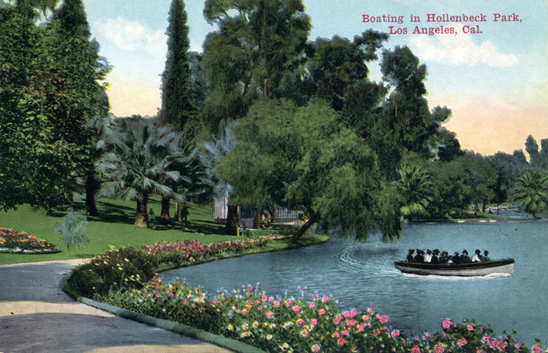 Boating in Hollenbeck Park