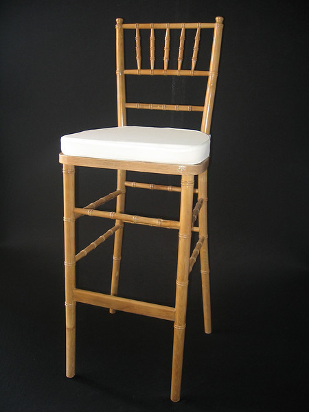 Natural Chivari Bar Stool (ivory chair pad included) CALL FOR PRICING & AVAILABILITY