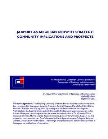 UNF JAXPORT study