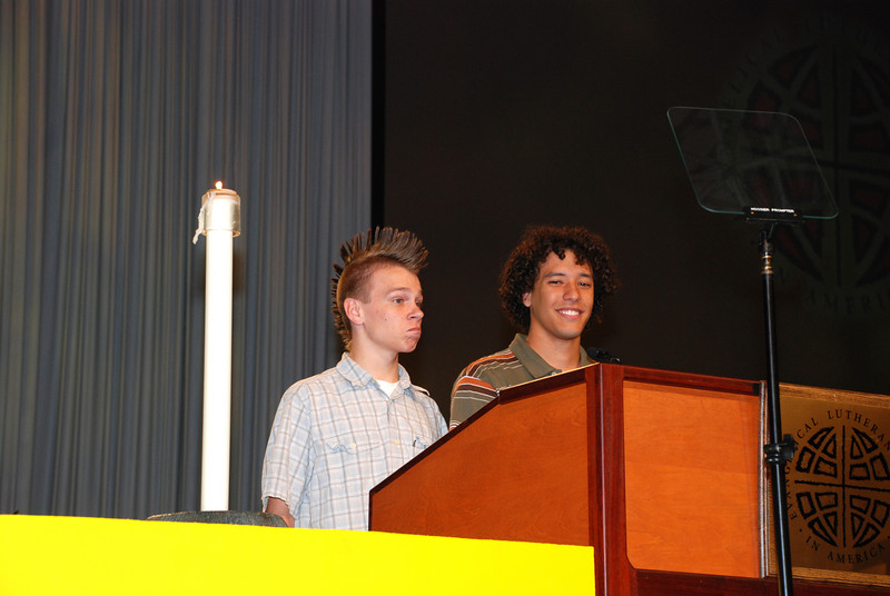 Lutheran Youth Organization during Plenary session 9 addrssing the voting members.