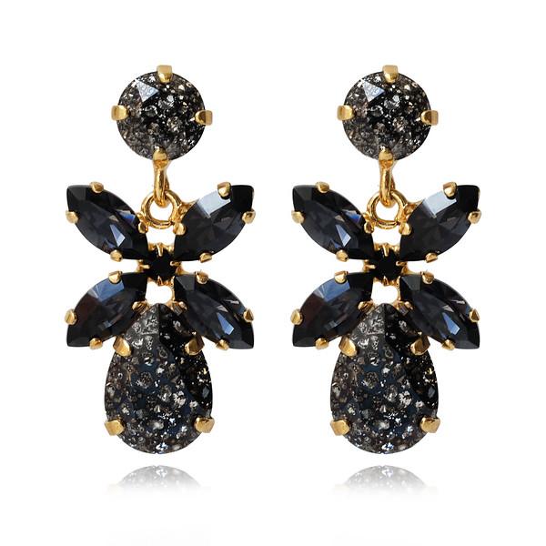 Mini Dione Earrings / Black Patina + Silvernight / Gold