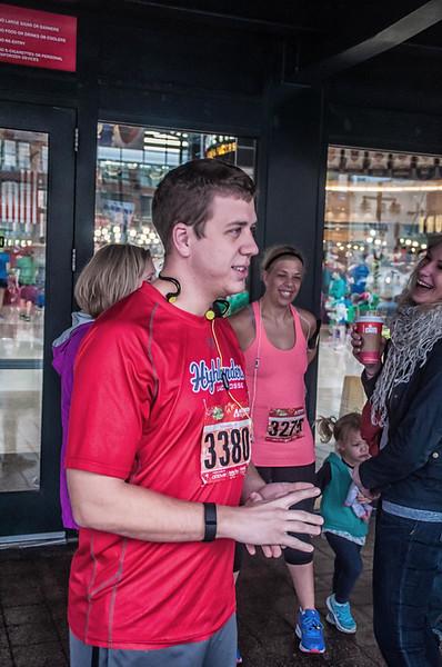 Matt and Kara ran in the Jingle Bell 10K