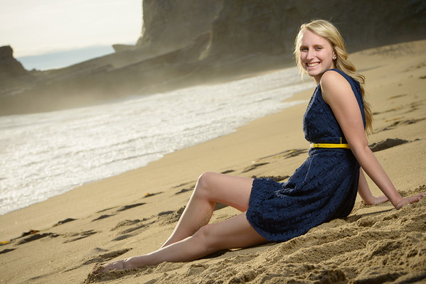 Emily (Senior Portrait Photography, Panther Beach, Santa Cruz)