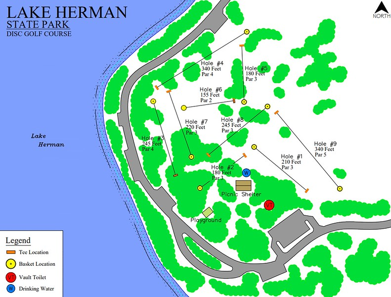 Lake Herman State Park (Disk Golf Course Map)