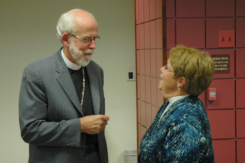 Presiding Bishop Mark S. Hanson with the Rev. Joanne Fitzgerald