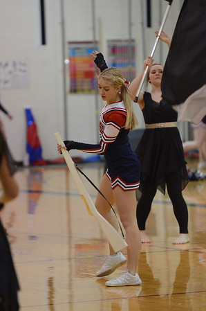 Winter Guard and Drumline