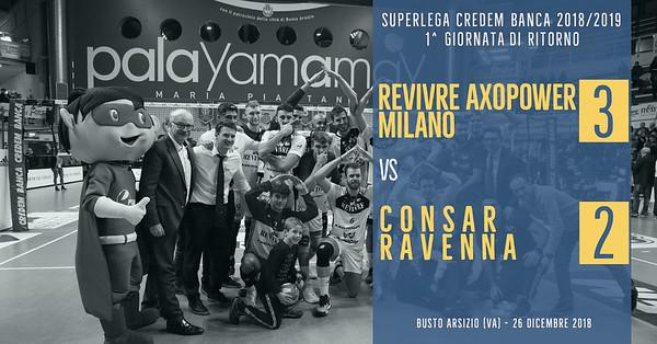 1^ Rit: Revivre Axopower Milano - Consar Ravenna