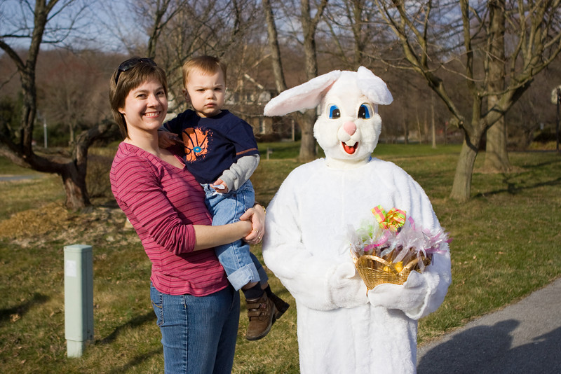 Mom, K.C. and the Easter Bunny.