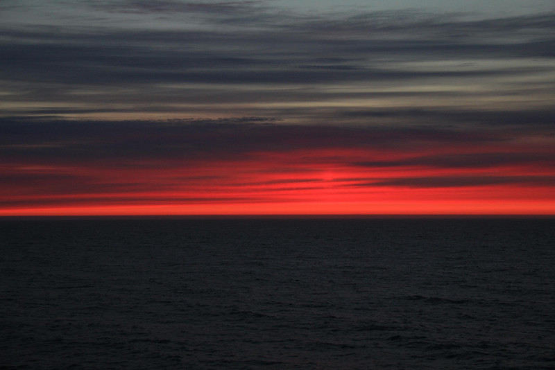One of several pleasant sunsets over the North Sea, June 2012.