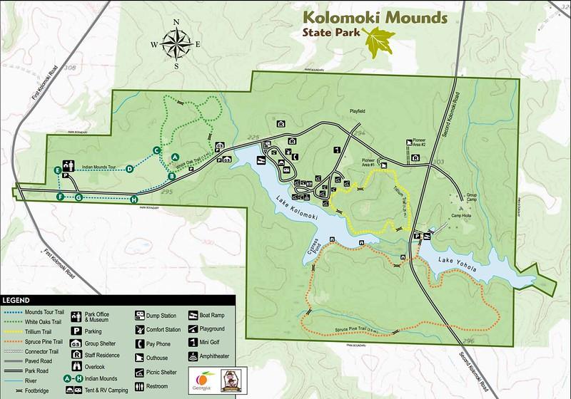 Kolomoki Mounds State Historic Park (Trail Map)