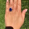 7.00ctw Tanzanite and Diamond Halo Ring 31
