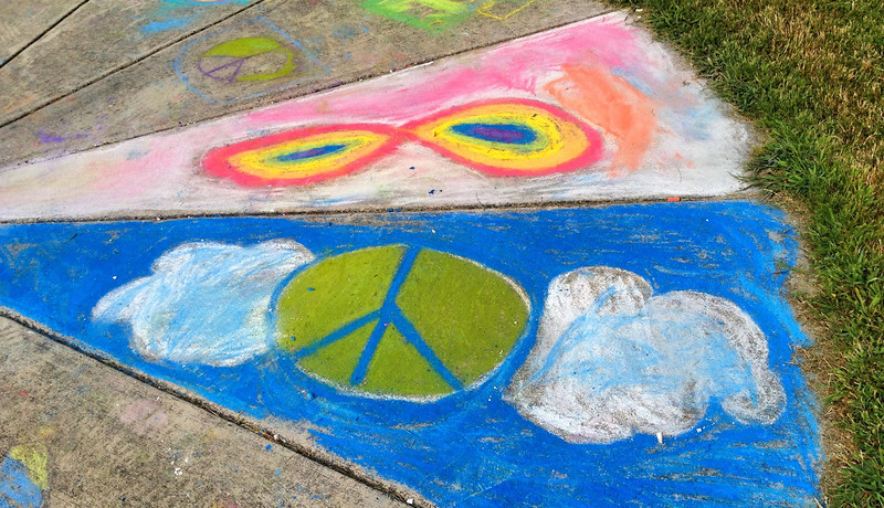 """""""For these students, Peace is infinite. It should be for all...""""- Marielle Mariano CHALK4PEACE '14 Groveton Elementary School Alexandria, VA  9/19/14  photo: Marielle Mariano"""