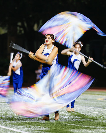 2021 NHS Game 4 Band and Color Guard