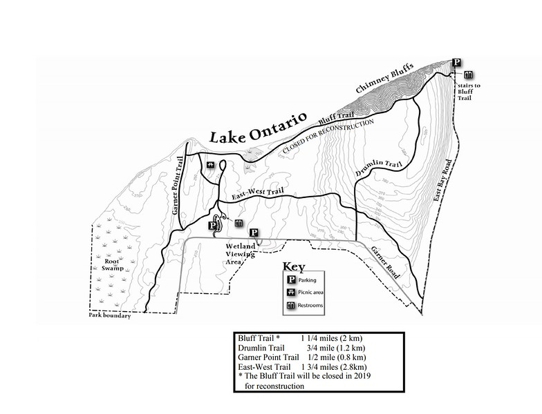 Chimney Bluffs State Park (Trail Map)