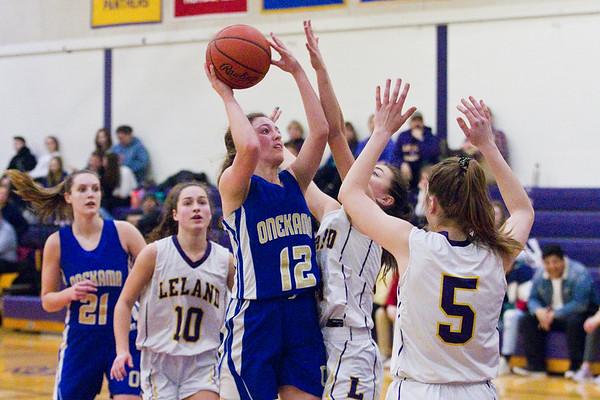 Girls Basketball: Onekama at Leland