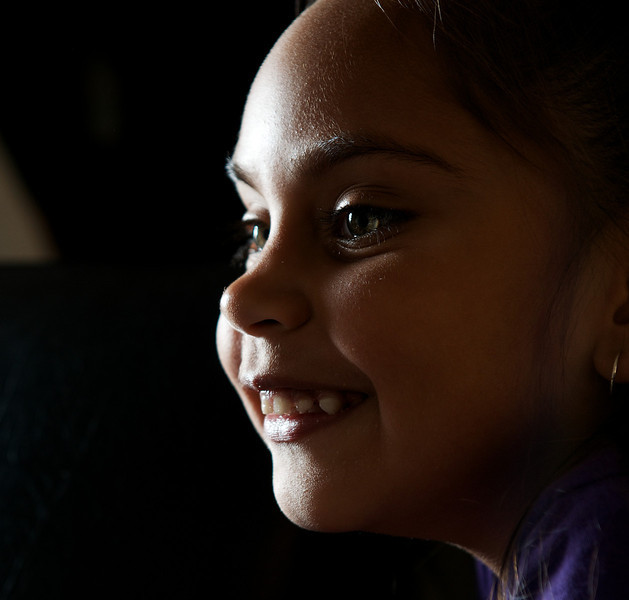 Aboriginal Australian Girl of Five Years in Profile