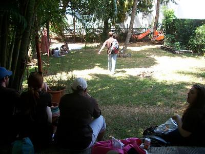 GRACIAS CR - Adelphi University Volunteers March 16, 2011 - at Refugio Herpetologico, Escazu, Costa Rica