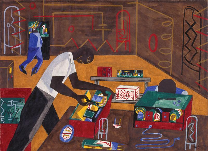 "Jacob Lawrence, ""Radio Repairs"" (1946)"