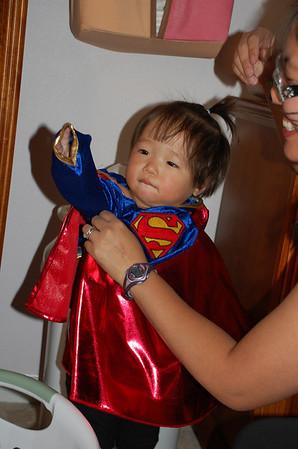 October 31, 2008 - Super Girl says HAPPY HALLOWEEN