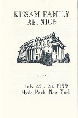 1999 Kissam Reunion Literature