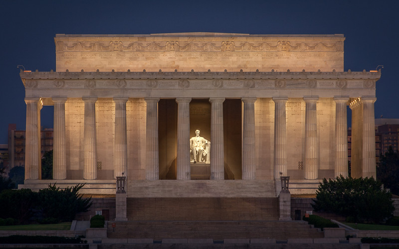 Quiet Night at the Lincoln Memorial