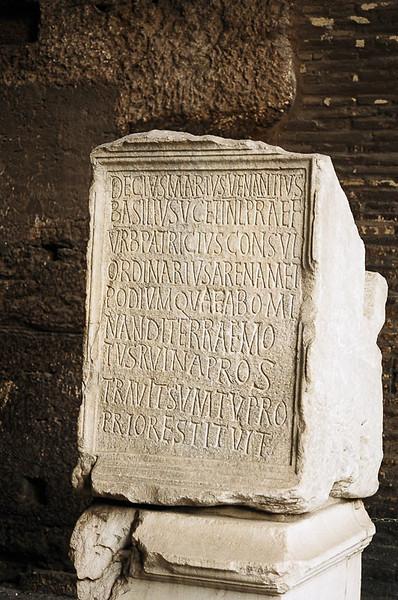 Saturday_Coloseo_A_dedication_inscription
