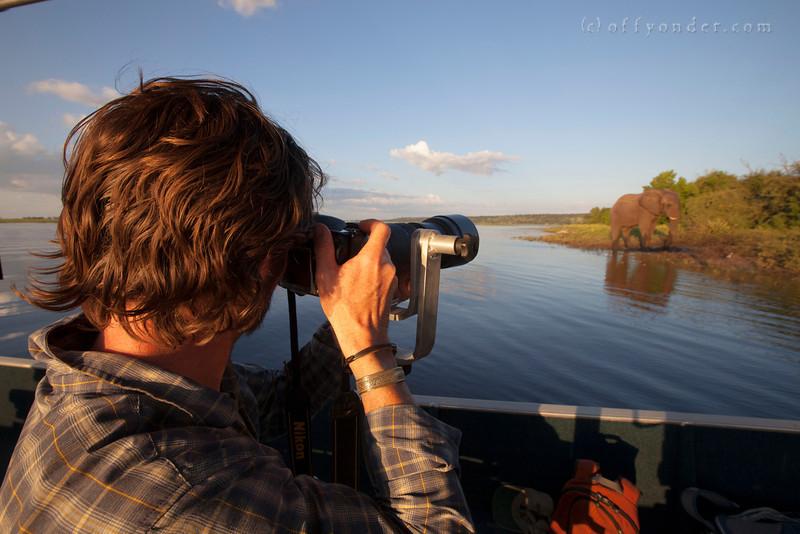 CHOBE NATIONAL PARK, BOTSWANA - Pangolin Photo Safari boat.