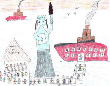 Statue of Liberty 2006/2007 Drawing Contest Finalist — Lawrence, age 7 (Brooklyn, New York)