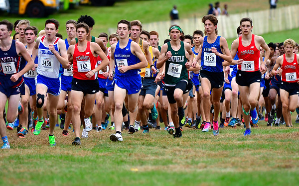 10/16/2019 Mike Orazzi | StaffrThe start of the boys CCC XC Championship held at Wickham Park in Manchester on Wednesday. r