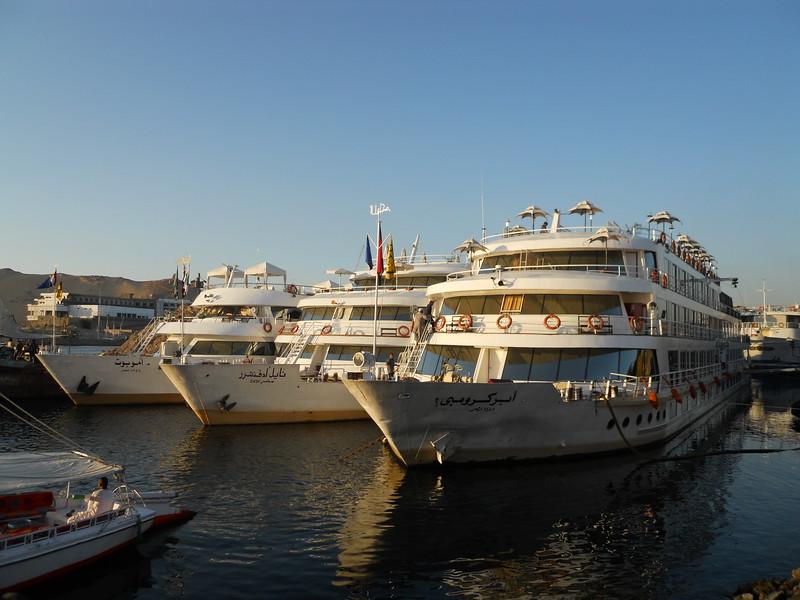 Sun Boat Fleet docked in Aswan -- Kimberly Collins