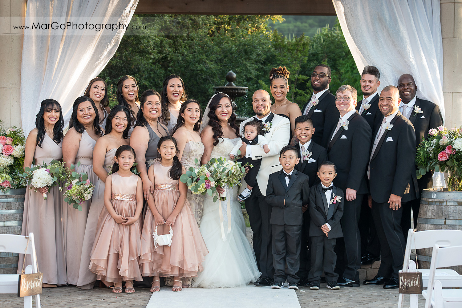 bridal party at Sunol's Casa Bella