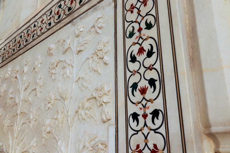 Inlay of the Taj Mahal
