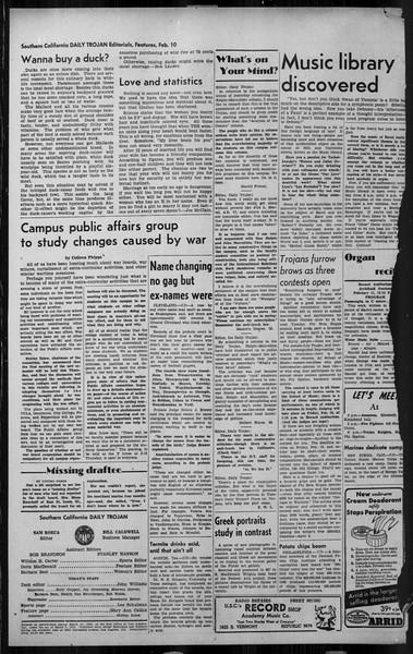 Daily Trojan, Vol. 34, No. 81, February 10, 1943