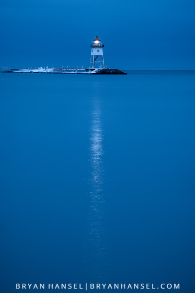 Early Winter Blue Hour Over the Lighthouse