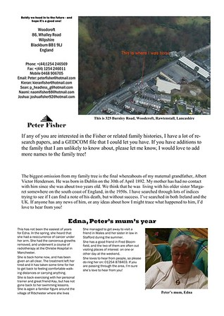 Christmas 1999 Fisher Family Newsletter