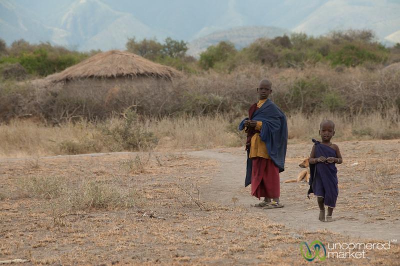 Masai Kids in Village - Lake Manyara, Tanzania