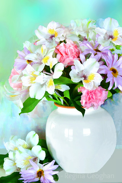 Bouquet in Spring Colors