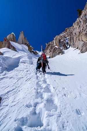 Skiing Couloir