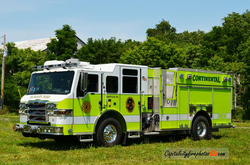 "Danville (Continental Fire Co.) Engine 33: 2013 Pierce Velocity ""PUC"" 1500/1000"