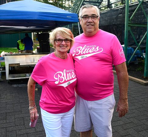 8/2/2018 Mike Orazzi | Staff Mae and Robert Palmisano at Muzzy Field during Pink Night Thursday evening.