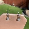 .69ctw Vintage Diamond Double Drop Earrings, French 7