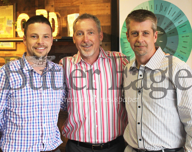 The township's latest CBD store opened last month, owned and operated by longtime township natives and Seneca Valley graduates, Bruce Bailey, Shaun Painter and Wayne Bell, pictured here.