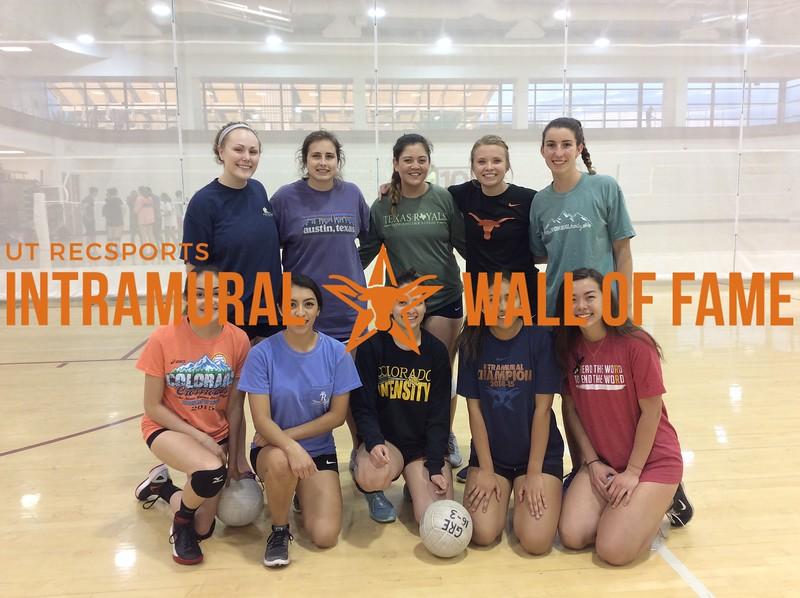 Spring 2017 Volleyball Women's A Runner Up_Texas Royals